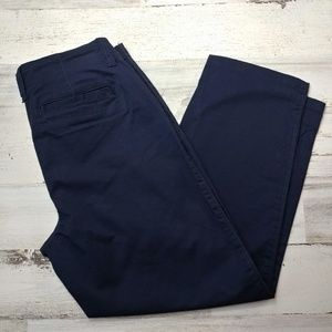 🌿 Crown & Ivy Navy Capri Pants Size 4P Petite
